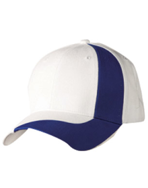 Picture of Winning Spirit - CH82 - Brushed Cotton Twill Baseball Cap With Contrast Stripe Across Peak & Crown