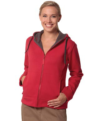 Picture of Winning Spirit - FL18 - Ladie's Full Zip Contrast Bonded Fleece Hoodie