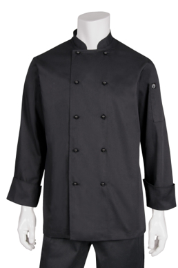 Picture of Chef Works - DBBL - Darling Black LS Basic Chef Coat
