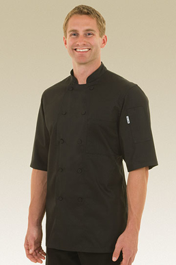 Picture of Chef Works - JLCV-BLK - Montreal Black Cool Vent Chef Coat