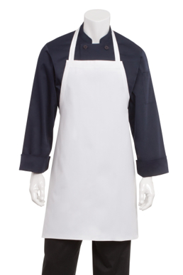 Picture of Chef Works - APKDC - White Bib Apron No Pocket