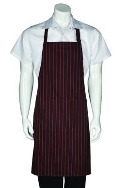 Picture of Chef Works - A6004-BO - BrownOrange Striped Bib Apron