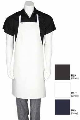 Picture of Chef Works - CWPVS-BLK - Black Short PVC Bib Apron