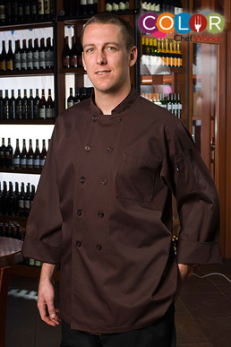 Picture of Chef Works - CCBA-CHO - Padova Chocolate Basic Chef Coat