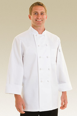 Picture of Chef Works - CBCC - Colmar White Basic Chef Coat