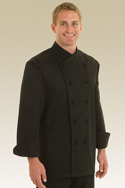 Picture of Chef Works - COBL - Montpellier Black Basic Chef Coat