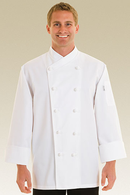 Picture of Chef Works - COPK - Nice Basic Chef Coat w Crossover Collar