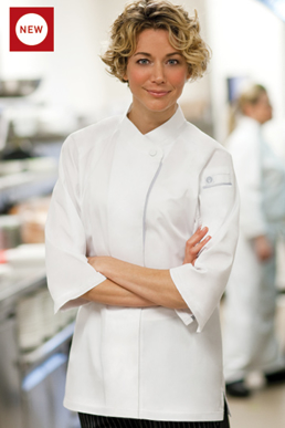 Picture of Chef Works - VSWO-WHT - V-Series Verona Women's Chef Coat