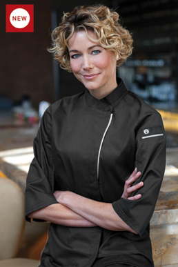 Picture of Chef Works - VSWO-BLK - V-Series Verona Women's Chef Coat
