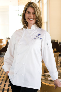 Picture of Chef Works - ECLA - Elyse Women's Egyptian Cotton Chef Coat