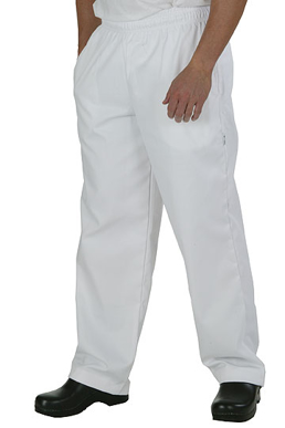 Picture of Chef Works - WTBP - White Basic Baggy Pants