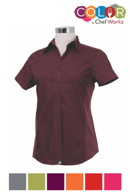 Picture of Chef Works - CSWV-MER - Female Merlot Universal Contrast Shirt