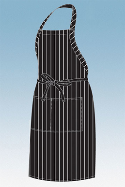 Picture of Chef Works - CSBA-BCS - Black Chalkstripe Designer Bib Apron