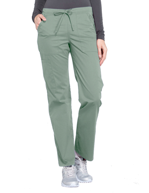 Picture of CHEROKEE- CH-WW160P-Cherokee Workwear Professionals Women's Drawstring Mid Rise Straight Leg Petite Pant