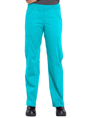 Picture of CHEROKEE-CH-WW170P-Cherokee Workwear Professionals Women's Elastic Waist Mid Rise Straight Leg Pull-on Cargo Petite Pant