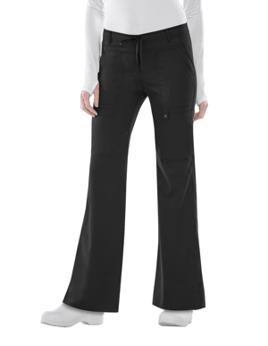 Picture of CHEROKEE-CH-21100P-Cherokee Luxe Junior Flare Drawstring Petite Scrub Pants