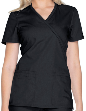 Picture of CHEROKEE-CH-WW650-Cherokee Workwear Women's Contemporary Fit Mockwrap Nursing top