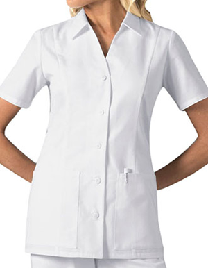 Picture of CHEROKEE-CH-2879-Cherokee Womens Two Pocket Standing Collar Scrub Top