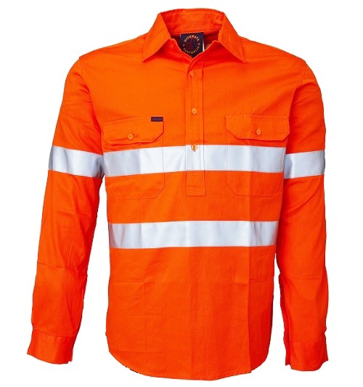 Picture of Ritemate Workwear-RM104CFR-Closed Front with 3M 8910 Reflective Tape Shirts