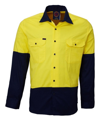 Picture of Ritemate Workwear-RM107V2-Vented Open Front Light Weight Shirts