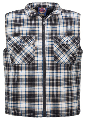 Picture of Ritemate Workwear-RM123V-Quilted Flannelette Vest - Zip front Shirts