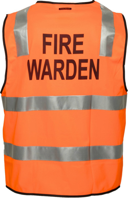 Picture of Prime Mover-MZ104-Stock Printed FIRE WARDEN Day/Night Vest