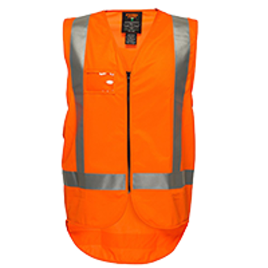 Picture of Prime Mover-MZ702-KIWI TTMC-W DAY/NIGHT SAFETY VEST WITH TAPE