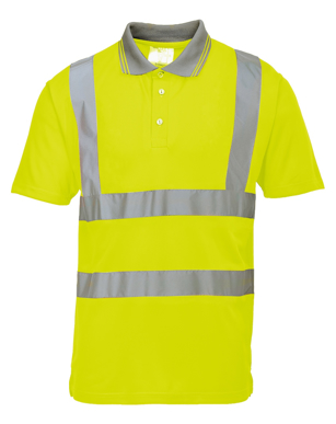 Picture of Prime Mover-S477-Hi-Vis S/S Polo Shirt