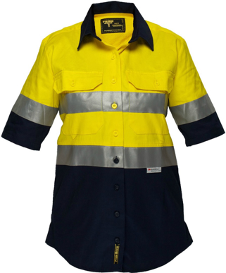 Picture of Prime Mover-ML109-Ladies Cotton Drill Shirt