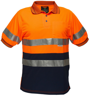 Picture of Prime Mover-MP510-Short Sleeve Micro  Mesh  Polo With Tape