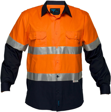 Picture of Prime Mover-MA801-Hi Vis Cotton Drill Shirt