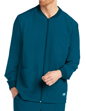 Picture of Skechers Scrubs-SK0408-Men's Structure Cuffed Zip Front Warm Up Jacket