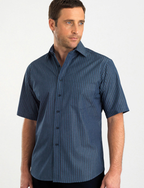 Picture of John Kevin Uniforms-443 Slate-Mens Short Sleeve Bold Stripe