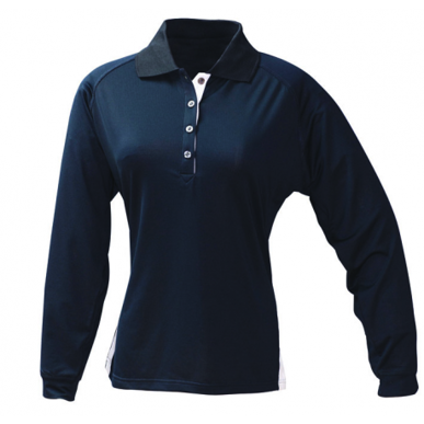 Picture of Stencil Uniforms-1142-Ladies L/S TEAM POLO L/S POLO