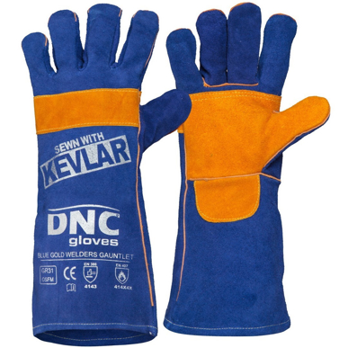 Picture of DNC Workwear-GR31-Blue  Gold Welders Gauntlet