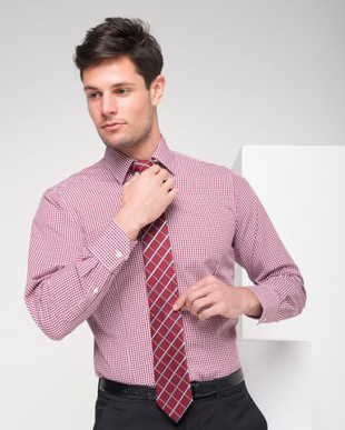 Picture of LSJ collection-2010L-GI-Mens Long sleeve classic fit shirt with contrast inner collar & cuff