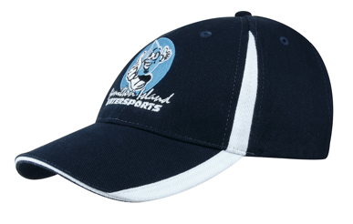 Picture of Headwear Stockist-4014-Brushed Heavy Cotton with Inserts on the Peak & Crown