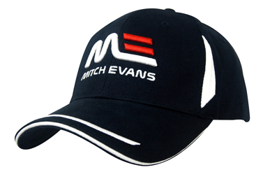 Picture of Headwear Stockist-4098-Brushed Heavy Cotton with Crown Inserts, Peak Trim & Sandwich