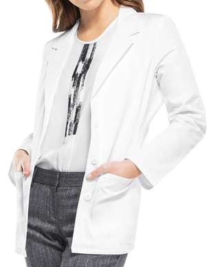 Picture of Cherokee Uniforms-CH-2317-Cherokee Womens Blazer Style Two Pocket 28 Inches Short Lab Coat