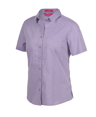 Picture of JBs Wear-4FC1S-JB's LADIES CLASSIC S/S FINE CHAMBRAY