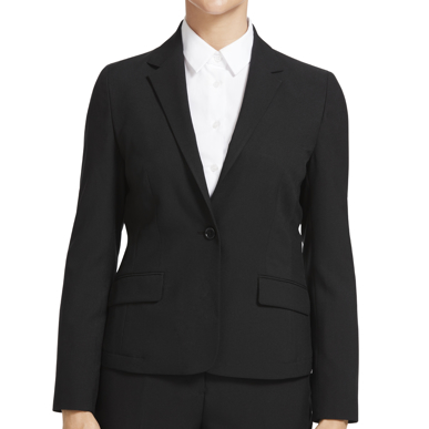 Picture of NNT Uniforms-CAT1E4-BLK-1 button mid length jacket