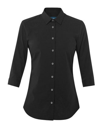 Picture of NNT Uniforms-CATU2L-BKP-3/4 Sleeve Mademoiselle Shirt
