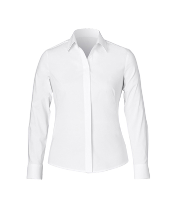 Picture of NNT Uniforms-CAT4MT-WHP-Long Sleeve Concealed Front Shirt