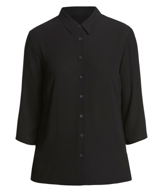 Picture of NNT Uniforms-CAT9RL-BKP-3/4 Sleeve Pleat Detail Blouse