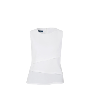Picture of NNT Uniforms-CAT9XC-WHT-Sleeveless Layered Top