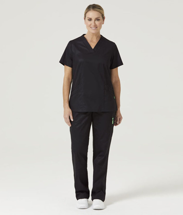 Picture of NNT Uniforms-CATU5F-BLA-Nightingale V-Neck Scrub Top