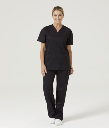 Picture of NNT Uniforms-CATJ2T-BLA-Koller V-Neck Scrub Top