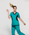 Picture of NNT Uniforms-CATU5B-MNN-Nightingale V-neck scrub top