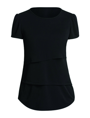 Picture of NNT Uniforms-CAT9XG-BKP-Short Sleeve Layered Top