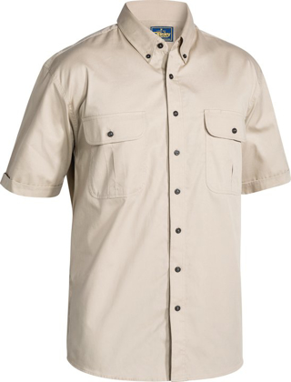 Picture of Bisley Workwear-BS1255-Mini Twill Shirt Short Sleeve